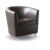 Shell Large Leather Couch Chair Salon Reception Waiting Armchair