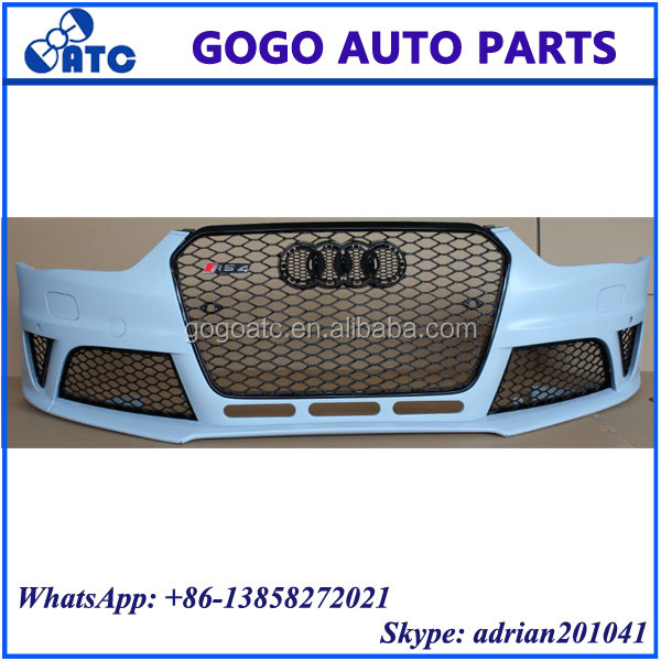 FOR AUDI RS4 2013 - 2015 BODY KIT RS4 FRONT BUMPER WITH GRILLE