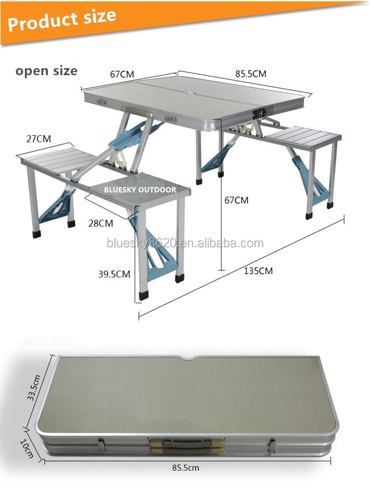 Mdf cheap camping aluminium composite picnic table buy - Table composite aluminium ...