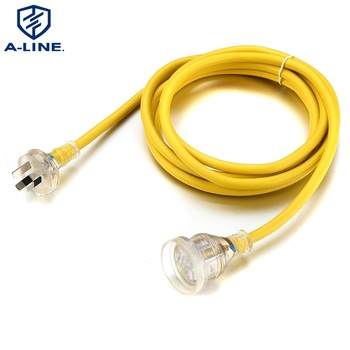 SAA Approved Australian 3 pins Extension power cord with Transparent plug