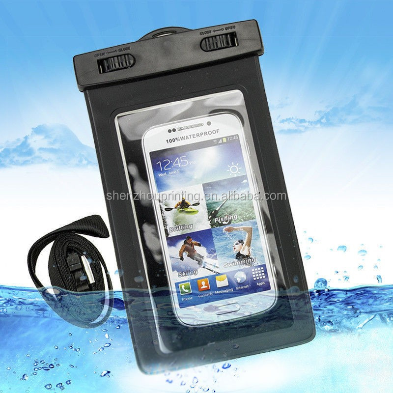 China professional custom colorful PVC waterproof mobile cell phone bag 100% waterproof smartphone bag for swimming