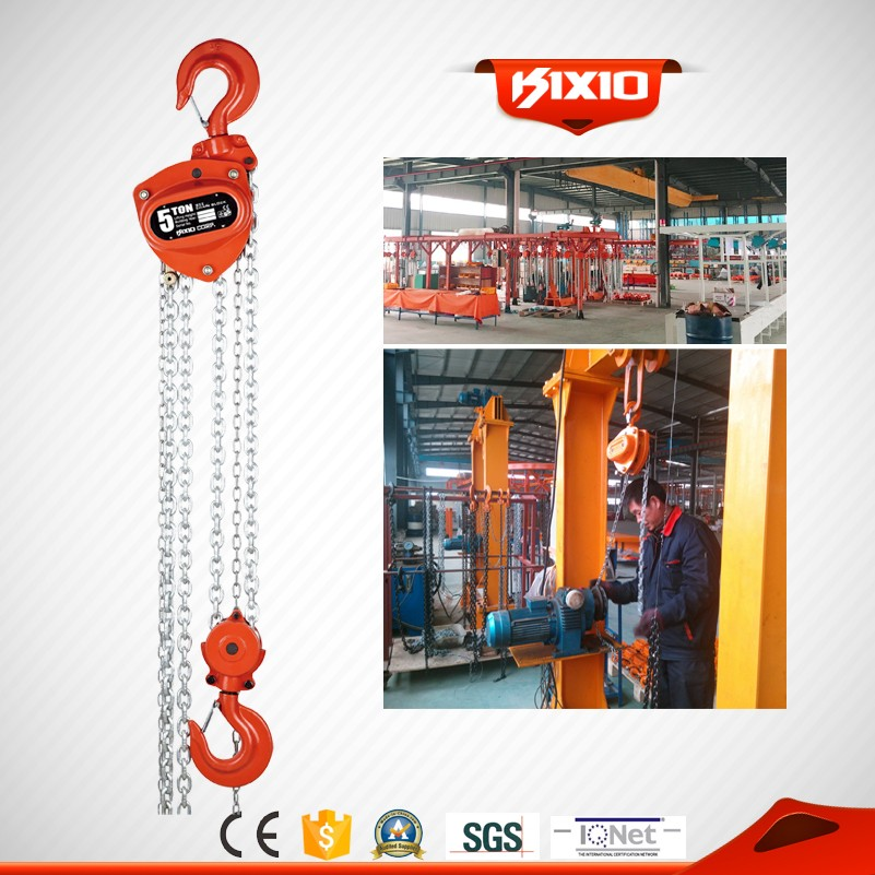 KIXIO high quality 5 ton manual chain block hoist