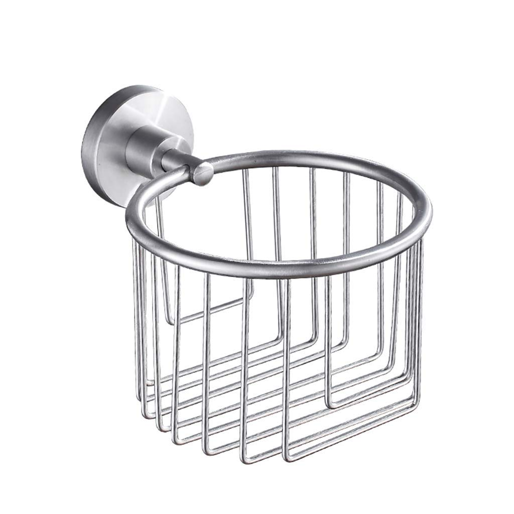 LE fu yan Toilet Paper Holder Stainless Steel Tissue Box Toilet Toilet Paper Holder Bathroom Paper Towel Rack Rack Paper Holder Wall Mount (Color : A)