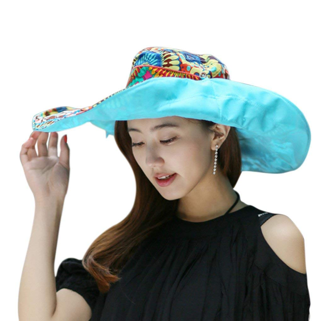 Clobeau Bucket Hats,Sun Hats Lady Floppy Summer Beach Hats for Women Sunbonnet Sunhats