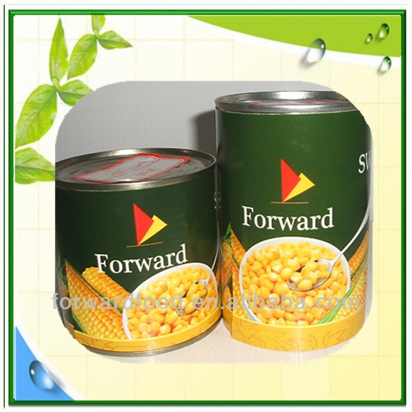 340g Canned sweet corn in tin or vacuum packed sweet corn