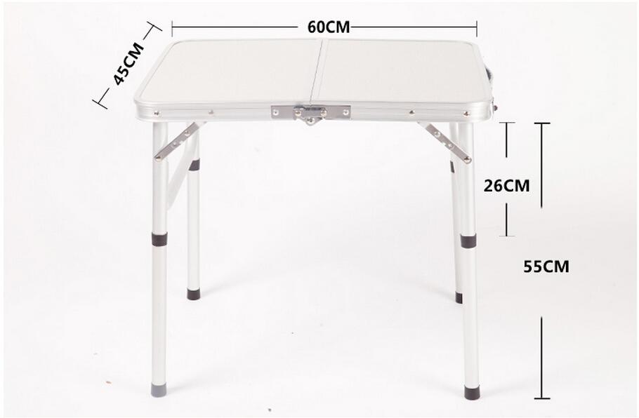 Small folding aluminium camping table folding cocktail - Small portable folding table ...