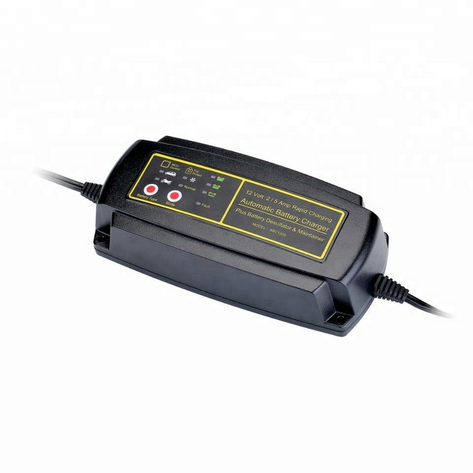12 V 5A Baterai Charger Mobil 7 Tahap Smart Charger Dinding Charger