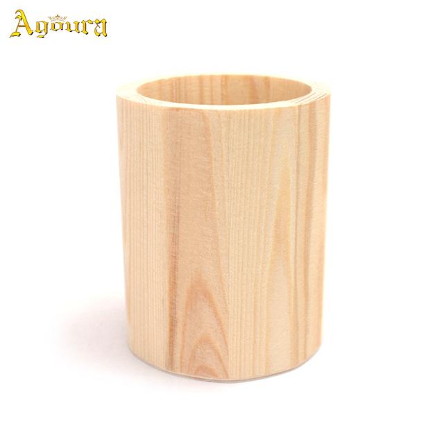 Customized Wooden Pen Holder flower pot Living Goods
