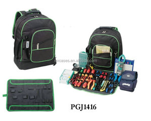 backpack-style 600D tool bag with tool store systems inside