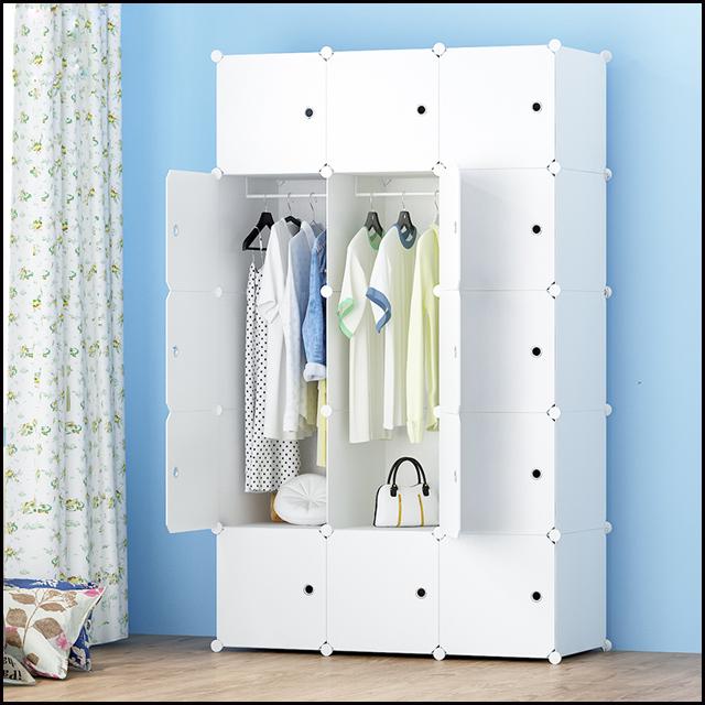 Multi Use Plastic Storage Cabinet Closet Wardrobe With Pure Colour