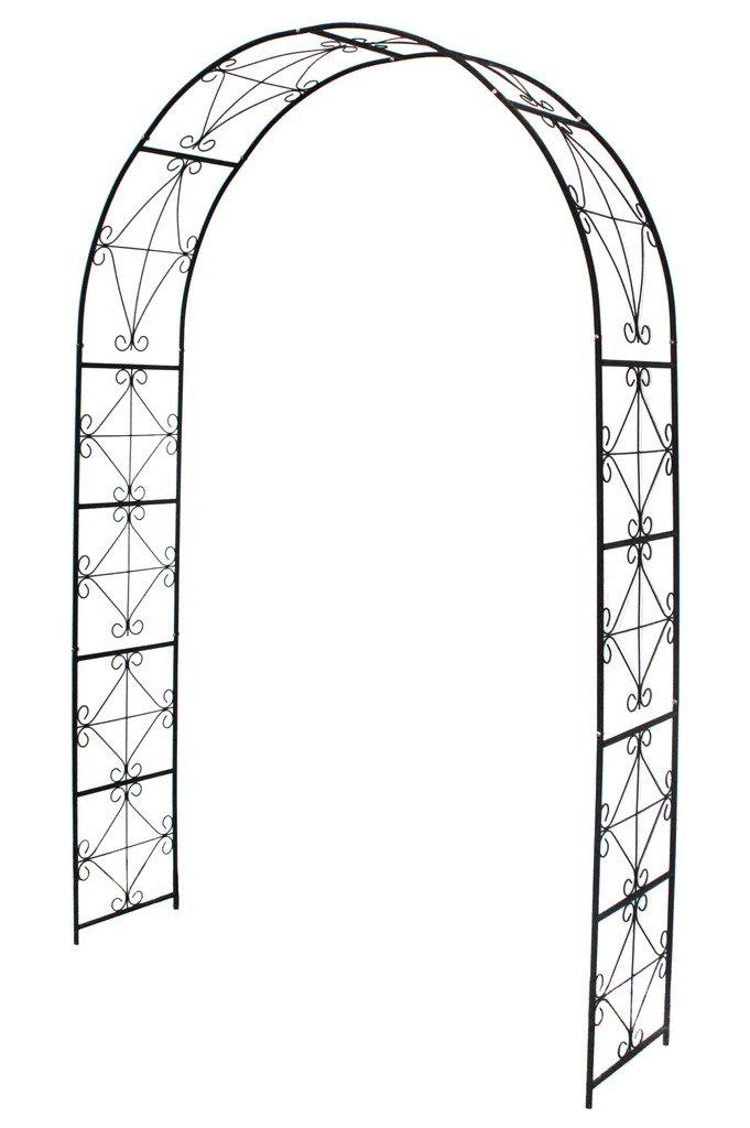 1.Go Steel Garden Arch, 7'2 High x 4'5 Wide, Garden Arbor for Various Climbing Plant, Outdoor Garden Lawn Backyard