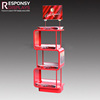 Various Retail Store Floor Metal Water And Beverage Display Racks With Header
