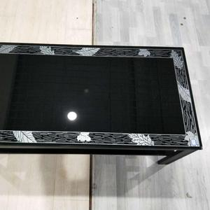 Modern Design Metal Rack Side Table Glass Coffee Table