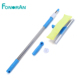 Long handled silicone extendable squeegee glass cleaning kit