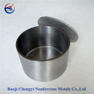 Tungsten metal container crucible for melting