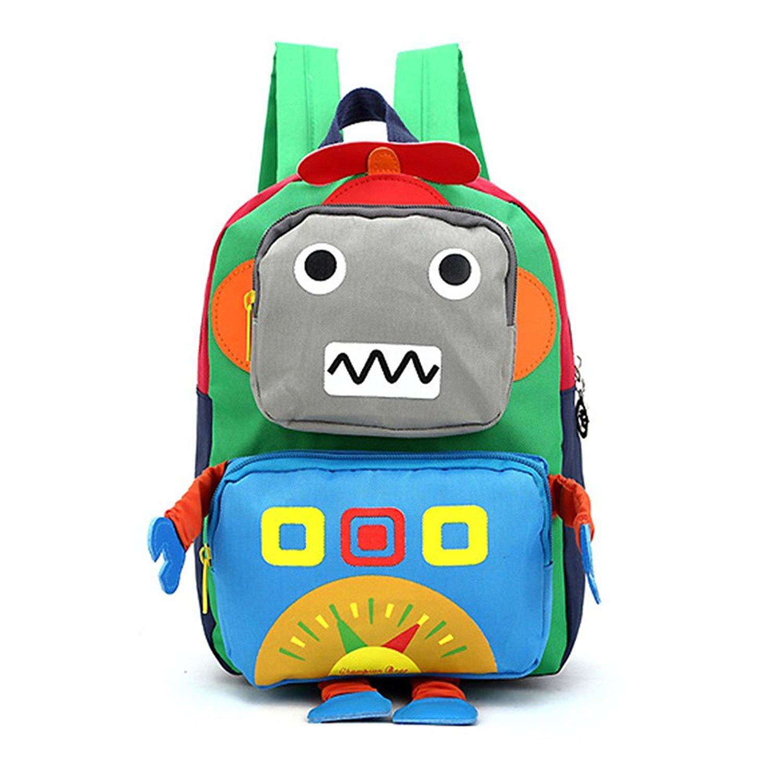 225b3b5645a7 Moggo Robot Kid s Backpack Toodler Pre School Backpack Cartoon Bag