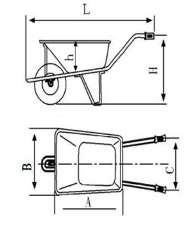 Cor laranja fazenda wheelbrrow WB7402