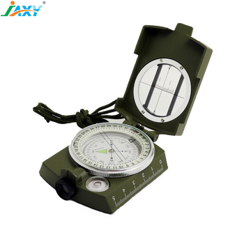 JAXY multifunctional high quality metal Pocket portable Waterproof Military Lensatic Prismatic sighting compass with pouch