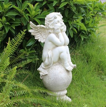 china factory wholesale life size angel garden statue. Black Bedroom Furniture Sets. Home Design Ideas