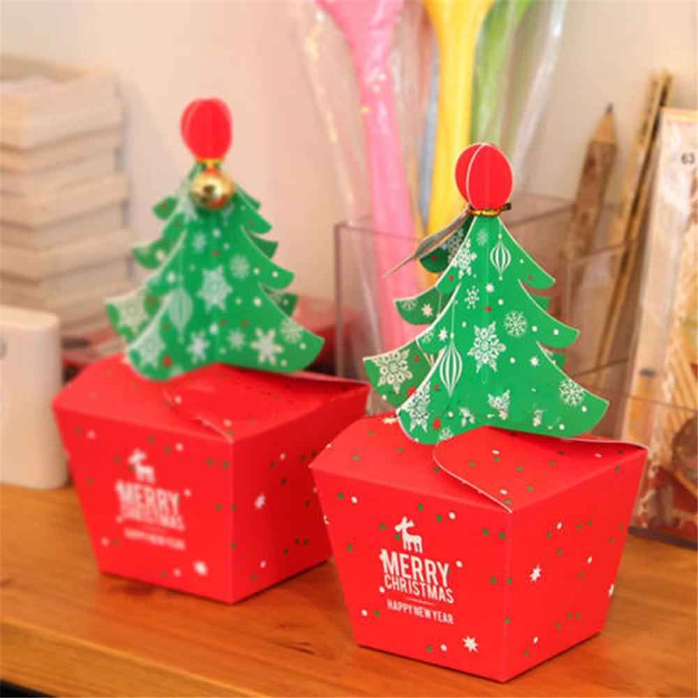 Christmas Boxes.Christmas Tree Shaped Paper Candy Box Gift Boxes With Bell Trinket Buy Paper Candy Box Christmas Shaped Paper Boxes Paper Gift Boxes Product On