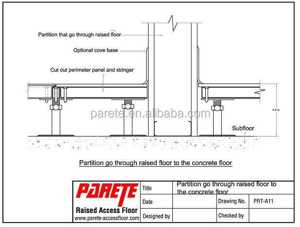 Parete Raised Access Floor Detailed Drawing Buy Raised