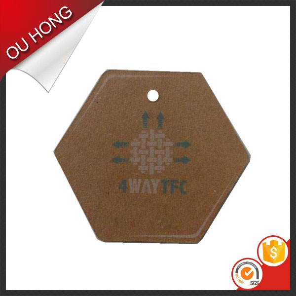 Printed Thick Brown Hangtag Cardboard