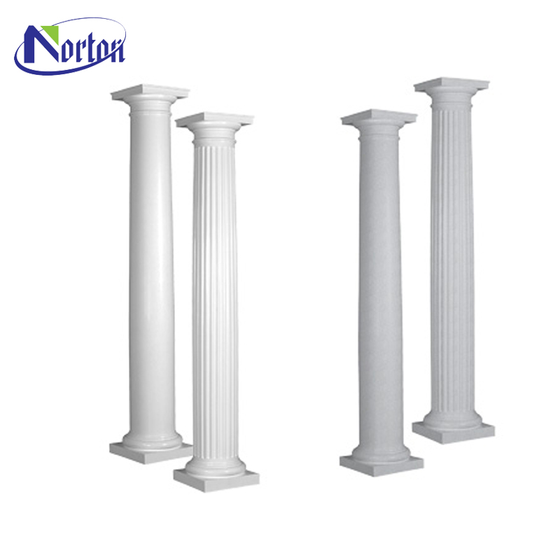 Classic simple designed marble gate pillar outdoor decor hand carved stone for sale NTMTA-017Z