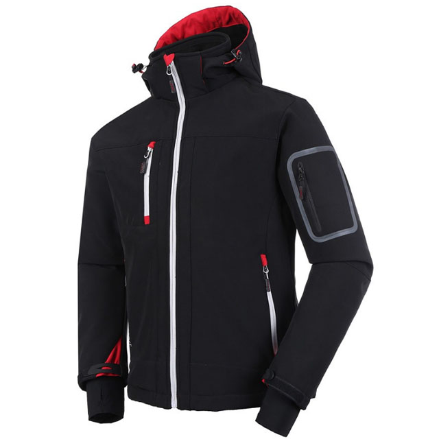 Male Wholesale Winter Contrast Color Splicing Stand Collar Fleece Jacket