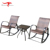 Deep Seating Leisure Outdoor Patio Garden Balcony Rattan Wicker Rocking Chair with Coffee Table Conversation Set
