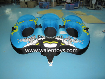 Inflatable Towable Raft 2 Person Float Tube Ski Water Sports River Boating