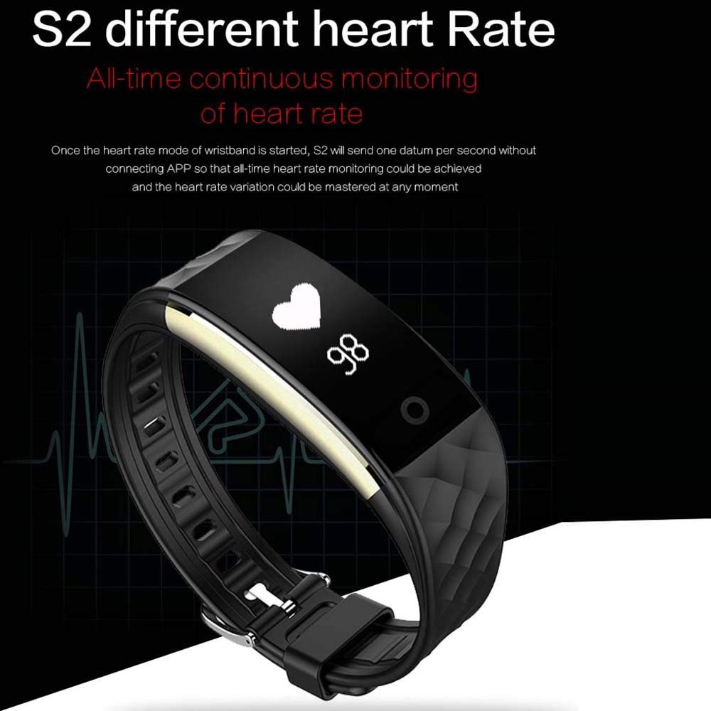 Bluetooth Smart Watches Men Clock Heart Rate Monitor Waterproof Smartwatch Women Men Sport Smart Wristwatch for IOS Android (black)