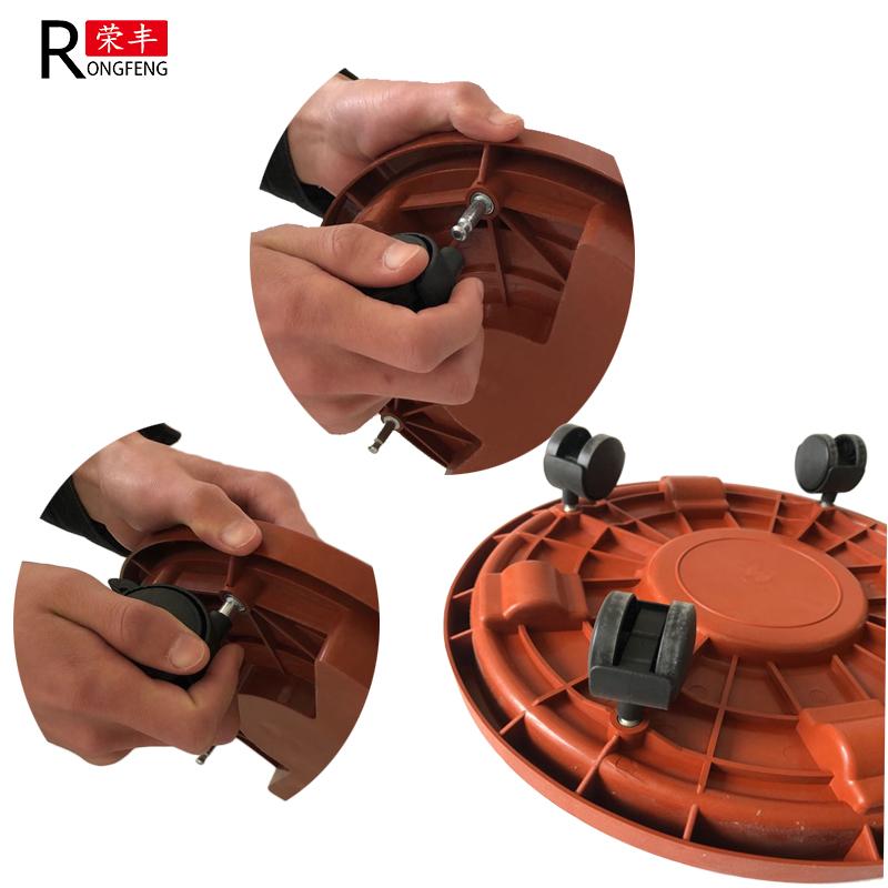 Plastic Pot Holder with lock wheels