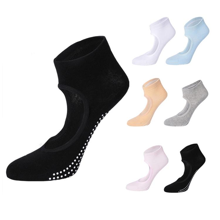 Custom Non Slip Ballet Pilates Grip Sokken Aanpasbare Anti Slip Yoga Sokken