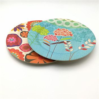 printed biodegradable party decoration bamboo fiber dinner plate & Printed Biodegradable Party Decoration Bamboo Fiber Dinner Plate ...