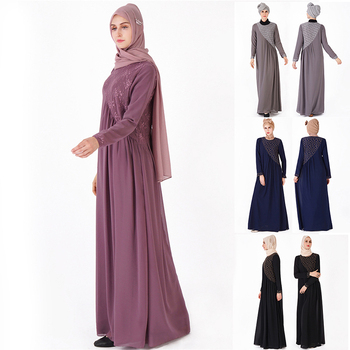 Ins explosion models length skirt Muslim women's loose large size dress Dubai robe