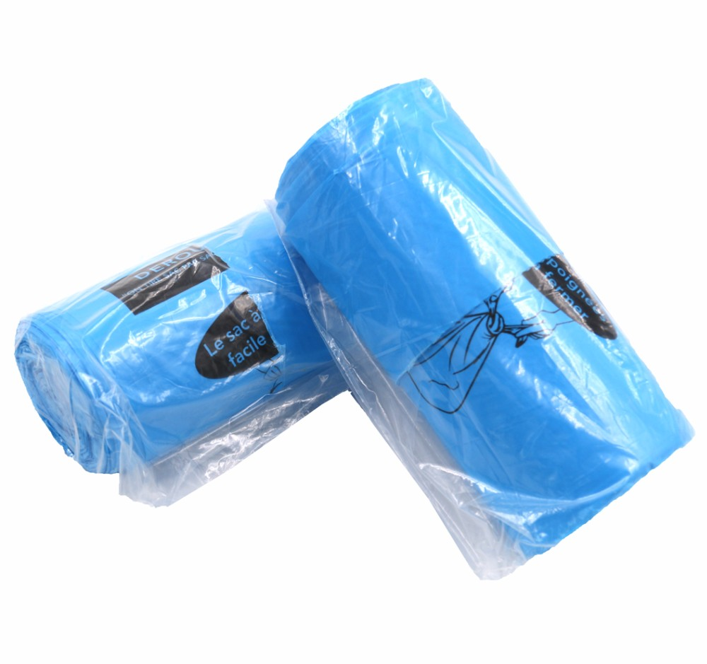 Vest Handled Plastic Garbage Bag Handle Custom Printed Bags Product On Alibaba