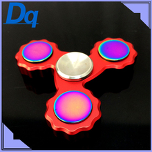 4 Colour High quality Tri Spinner Fidget Toy Metal EDC Hand Spinner For Autism and ADHD Rotation Time Long Anti Stress Toys Gift