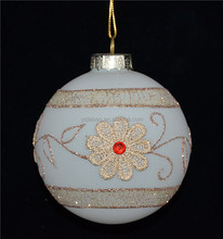 New manual round hanging glass ball as christmas tree ornaments or home decorations from yangzhou manufacturer
