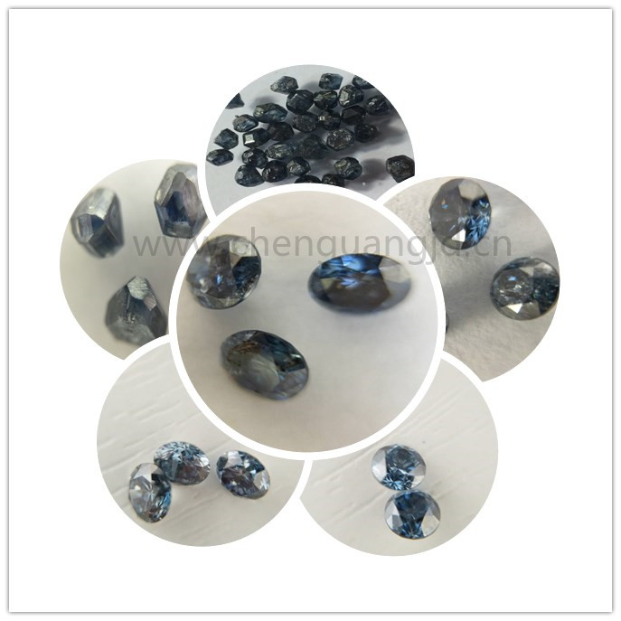 cvd diamond fancy blue hpht rough diamond