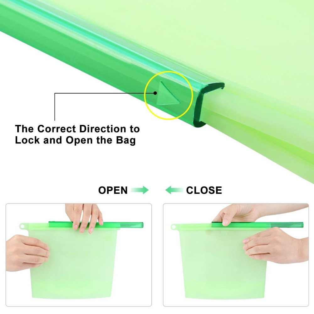 Reusable Silicone Food Storage Preservation Bags Versatile Cooking Bag for Refrigerator Microwave Oven Fruits Vegetables