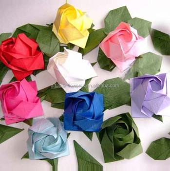 Paper Folding Flowers Rose Flower Head