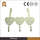Three Hooks Heart shaped custom clothes hanger,wall mounted clothes hanger rack
