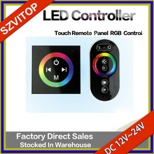Touch Remote Panel RGB Control LED Light Strip Controller Easy Using & Color Changing Quickly 86 Shape DC12V,24V