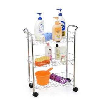 3 Tiers Chrome Bathroom Trolley Cart