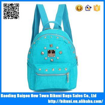 2015 Fashionable Cheap Nylon High School Cute Backpack For Teen
