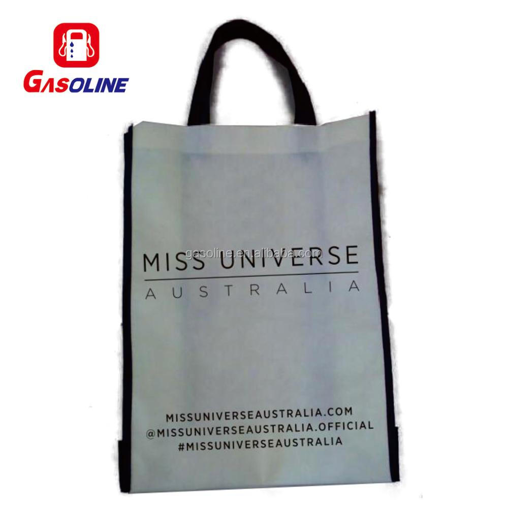 Durable promotional pp laminated non woven shopping carry bag with fastener