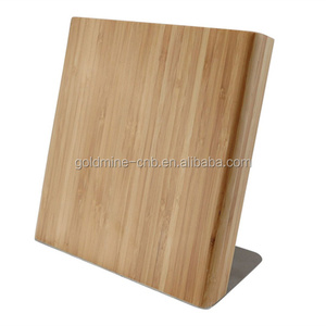 kitchen magnetic bamboo knife block/knife holder for holding knives
