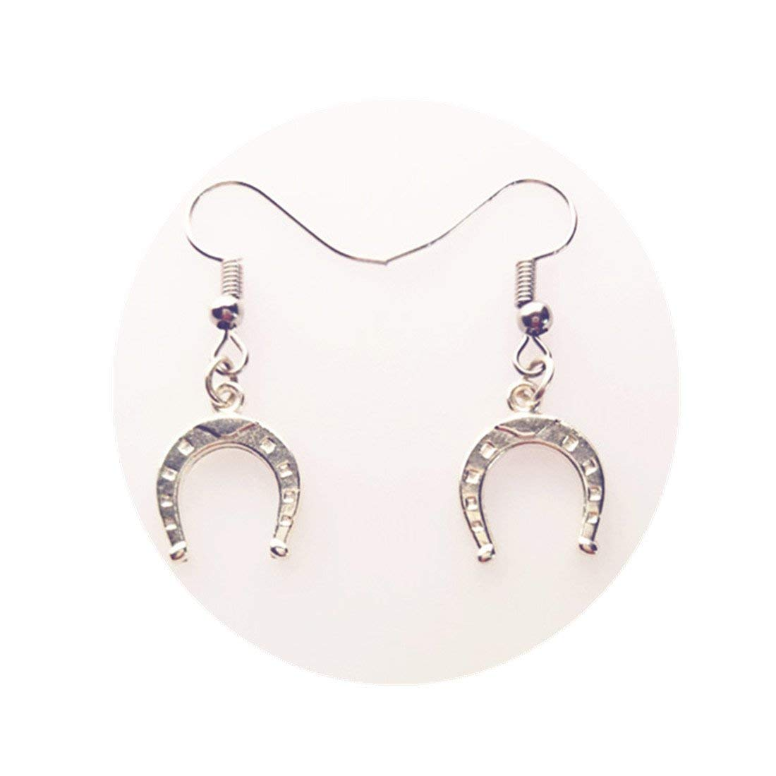 Get Quotations Horseshoe Earrings Silver Jewelry