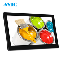 14 Inch Digital Photo Frames , USB LCD Picture Frames With Automatic Slide Show For Pawnshops Interactive Tables Signage