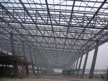 Prefab Stadium Bleacher With Steel Pipe Truss Roof System